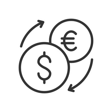 scalable: Exchange. Fully scalable vector icon in outline style.