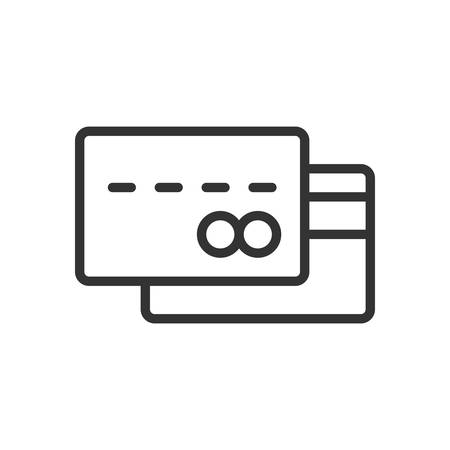 scalable: Credit Card. Fully scalable vector icon in outline style.