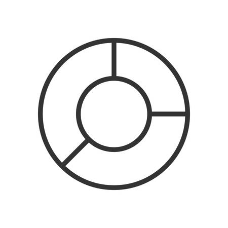 scalable: Pie Chart. Fully scalable vector icon in outline style.