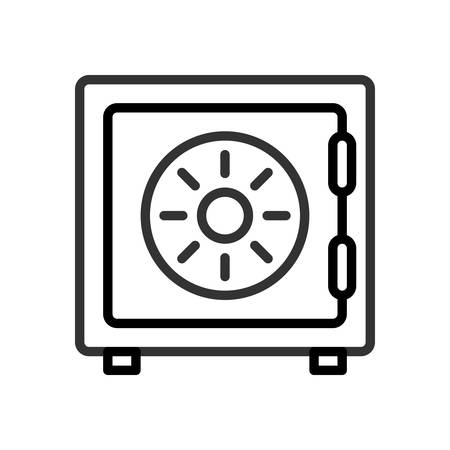 scalable: Safe. Fully scalable vector icon in outline style.