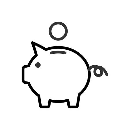 scalable: Piggy Bank. Fully scalable vector icon in outline style.
