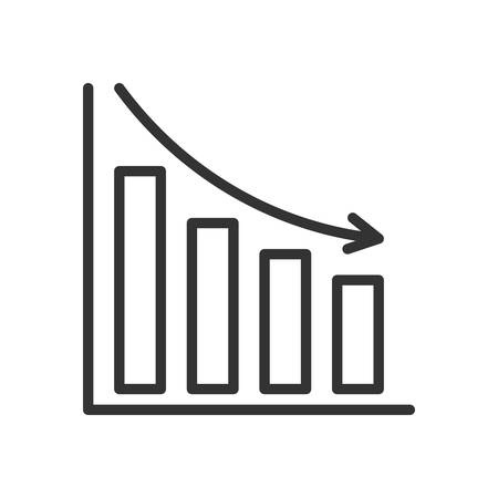 scalable: Bar Chart. Fully scalable vector icon in outline style.