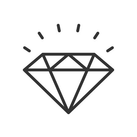 karat: Diamond. Fully scalable vector icon in outline style.