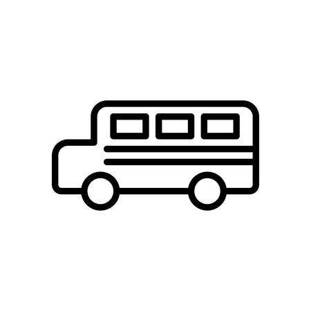 scalable: Bus fully scalable vector icon in outline style.