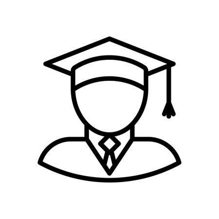 scalable: Graduate fully scalable vector icon in outline style.