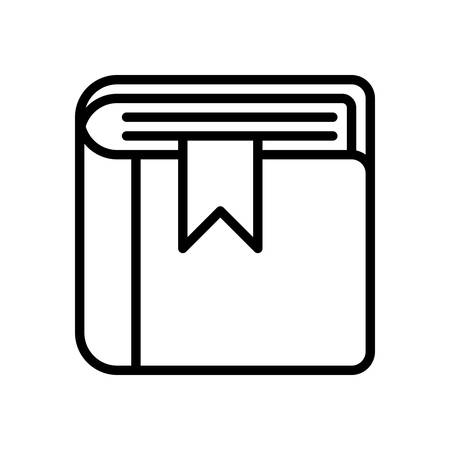 scalable: Book fully scalable vector icon in outline style. Illustration