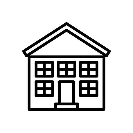 shool: Shool fully scalable vector icon in outline style.