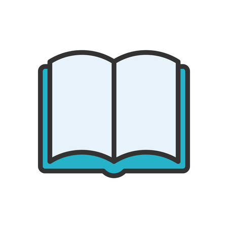 scalable: Open Book fully scalable vector icon in outline style. Illustration