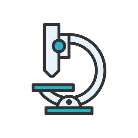 scalable: Microscope fully scalable vector icon in outline style. Illustration