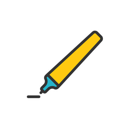 pen and marker: Marker Pen fully scalable vector icon in outline style.