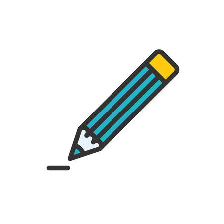 scalable: Pencil fully scalable vector icon in outline style.