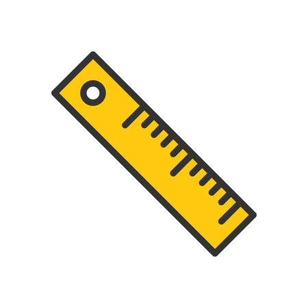 scalable: Ruler fully scalable vector icon in outline style. Illustration