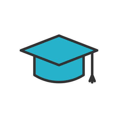 scalable: Graduation Cap fully scalable vector icon in outline style.