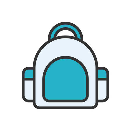 scalable: Bag fully scalable vector icon in outline style. Illustration