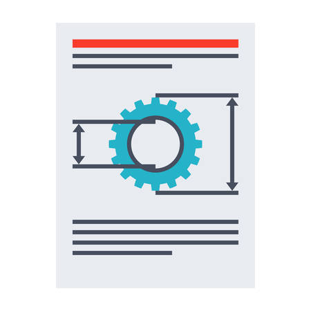 paper product: Product requirements document vector illustration in flat style. Illustration