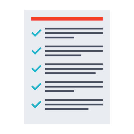 tasks: Tasks completed concept with todo list in flat style. Illustration