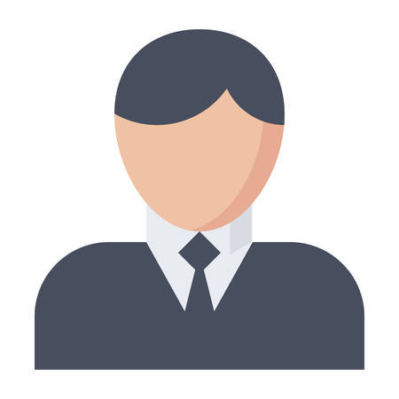 jobs people: Business man vector illustration in flat style.