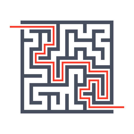 finding: Concept finding solutions  with maze through which passes the way.