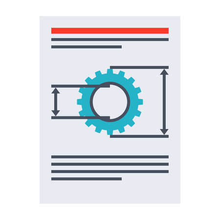 requirements: Product requirements document vector illustration in flat style. Stock Photo