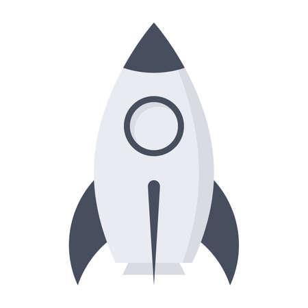 prototipo: concepto de producto prototipo con cohetes en el estilo plano.