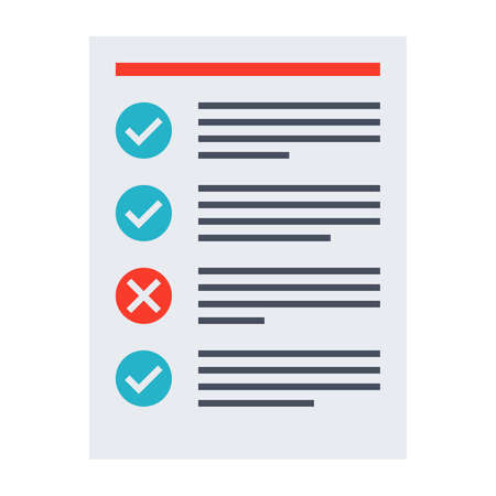 tasks: Tasks completed concept with todo list in flat style. Stock Photo