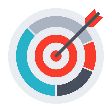 precise: Arrow hit goal ring in archery target.