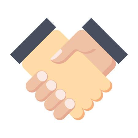 buen trato: Concepto de la sociedad o apretón de manos después del buen trato. Vectores