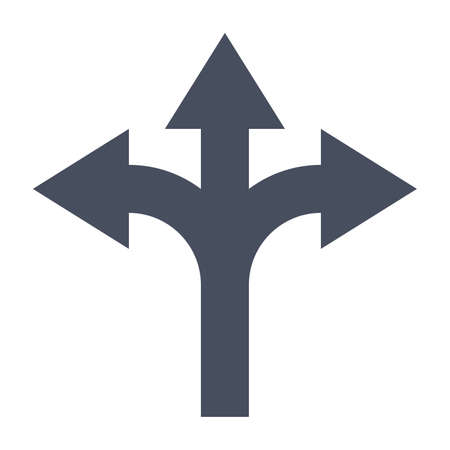 uncertainty: Decision making Concept with direction arrow sign.
