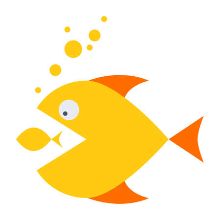 acquisitions: Mergers and acquisitions concept with two fish.