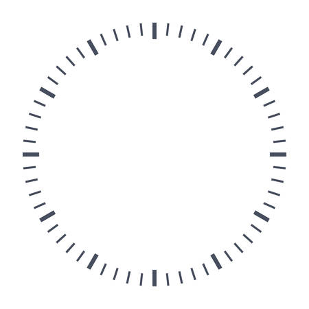 esfera del reloj en blanco, acaba de establecer su propio tiempo.