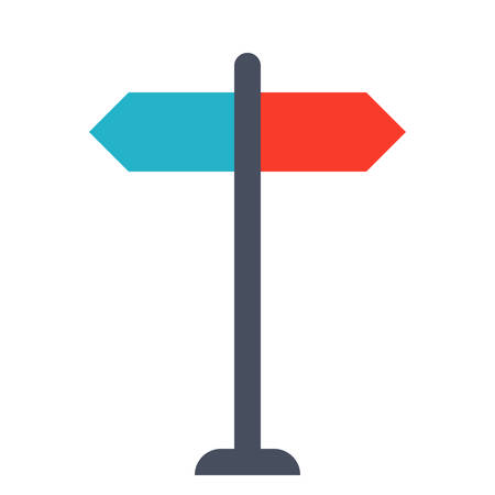sign making: Decision making Concept with direction arrow sign.