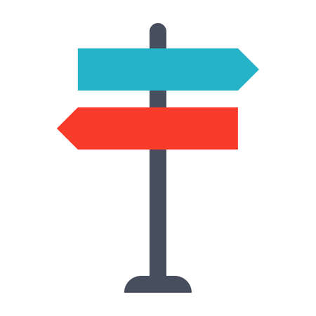 street symbols: Decision making Concept with direction arrow sign.