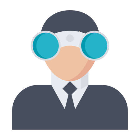 looking for: Looking for opportunities Concept with businessman and binocular.