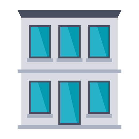 office building: Office building vector illustration in flat style.