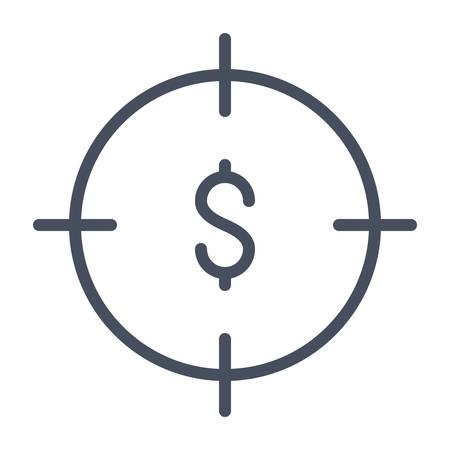 Business-Ziele Konzept mit Dollar-Zeichen in Fadenkreuz.