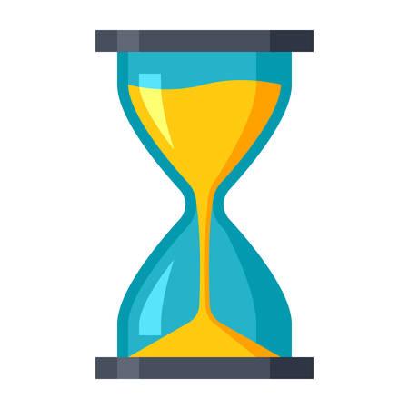 Le compte à rebours à la date limite dans le sablier. Vecteurs