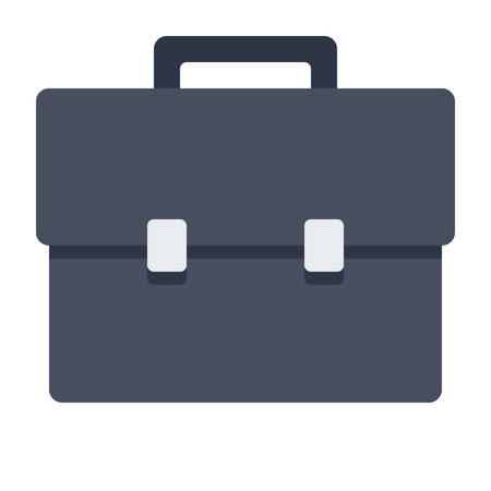 black briefcase: Black briefcase stylish vector illustration in flat style.
