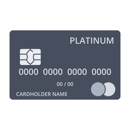 platinum: Platinum debit card templates in flat style.