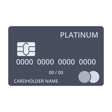 platinum style: Platinum debit card templates in flat style.