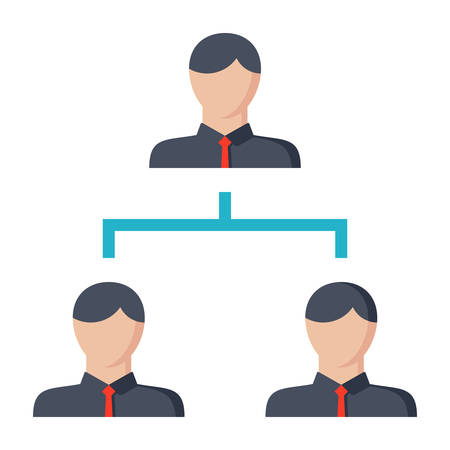hierarchy: Hierarchy concept with symbol people in flat style.