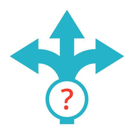 flechas direccion: La planificación estratégica o haciendo el concepto con el signo de la flecha de dirección de decisiones.