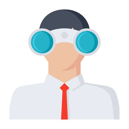 search searching: Looking for opportunities Concept with businessman and binocular.
