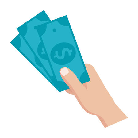 PayDay loan concept of hand holding money