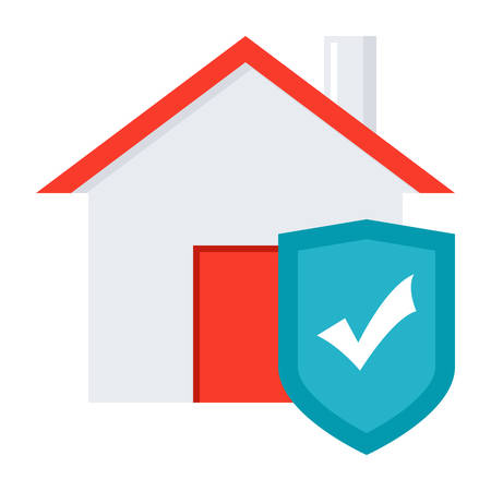 homeowners: House with shield concept for home insurance