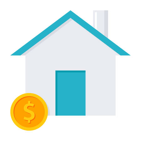 House and coin concept for home loan