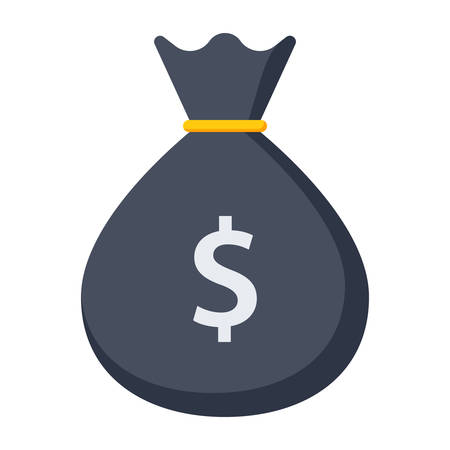 wealth concept: Wealth concept with money bag and dollar sign Illustration