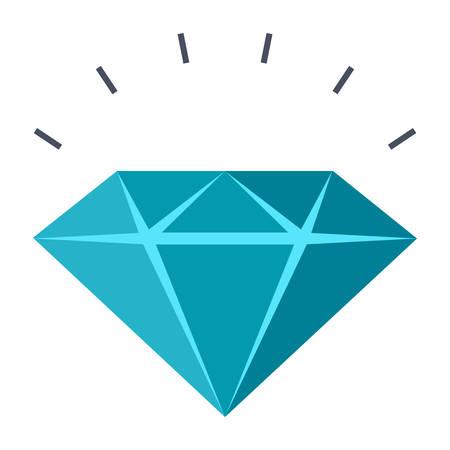 Sparkling diamond vector illustration in flat style Illustration