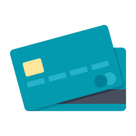 pay money: Credit card simple icon in flat style