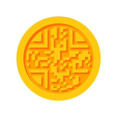 pay money: Cryptocurrency icon for bitcoin, virtual currency, digital money, ecash Illustration