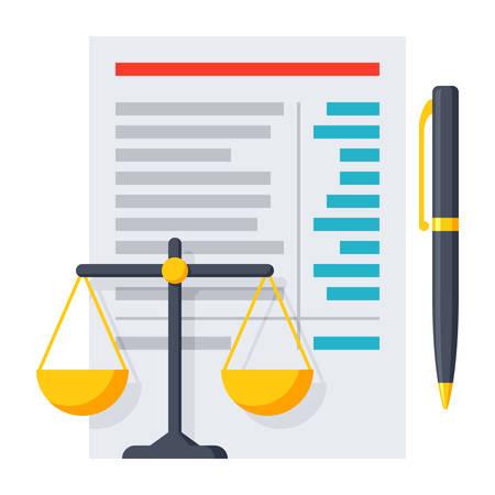 balance: Balance Sheet Icon Illustration